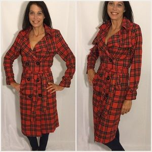 Jackets & Blazers - Just Arrived ❤️ Last 1 Large Plaid Trench Coat